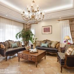 美式客厅吊顶设计装修图片