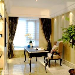 欧式风格书房窗帘装修效果图大全