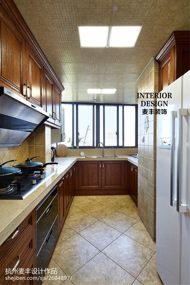 简约美式厨房装修复合亚克力效果图