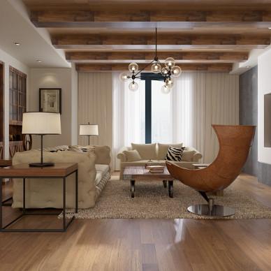 美式风格樱桃木地板效果图