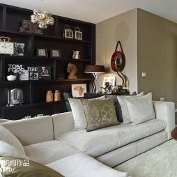 现代休闲别墅客厅时尚布艺沙发装饰效果图