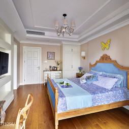 美式乡村卧室设计实木家具效果图
