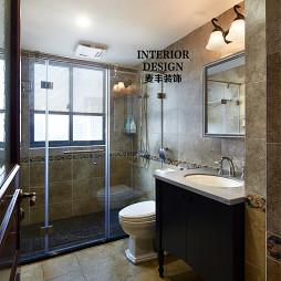 美式卫生间墙面瓷砖装修效果图