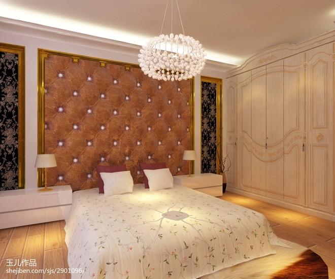 混搭卧室水晶球吊顶图片