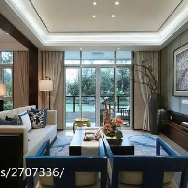 新中式设计住宅-著名设计师陈忆作品_1613933