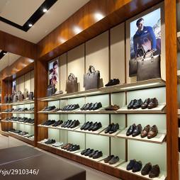 购物空间鞋子展示架装修效果图