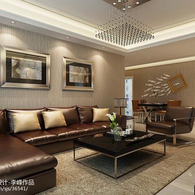 现代雅致客厅羊毛地毯效果图