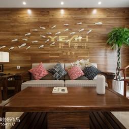 最新中式客厅沙发背景墙设计