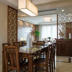 中式客厅餐厅隔断设计