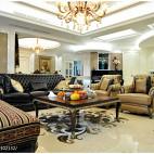 欧式复古风格客厅装修设计