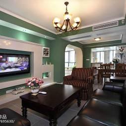 简欧风客厅电视墙装修设计