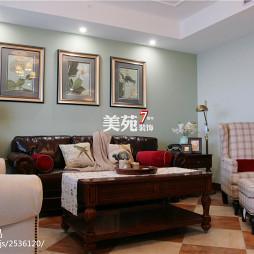 美式客厅多功能茶几家装效果图