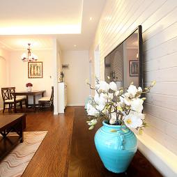 85平方美式田园风格客厅过道设计