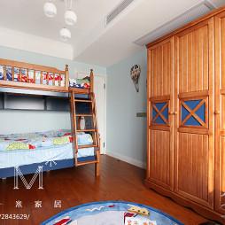 30㎡美式风儿童房实木家具图片