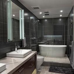 欧美风格浴室台上盆装修图