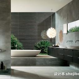 欧式风格浴室台盆装修设计图