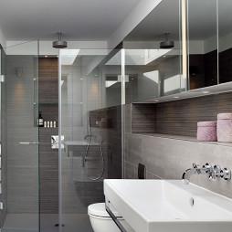 最新浴室陶瓷洗手盆装修效果图