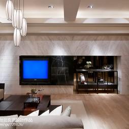 最新混搭风格客厅电视背景墙装修设计