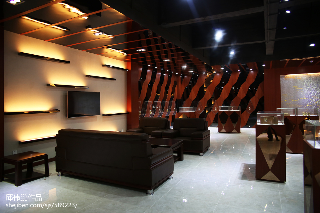 理科虫草王_展厅空间设计效果图 – 设计本装修效果图