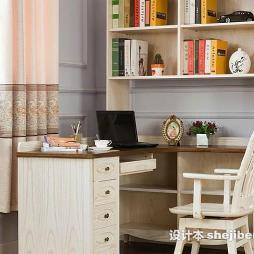 写字台书柜组合效果图集