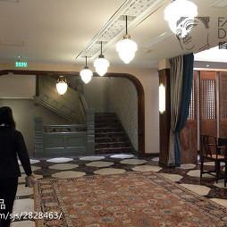 混搭风格中餐厅走廊吊顶设计