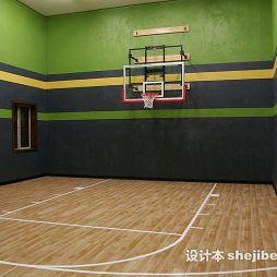 篮球场木地板效果图片