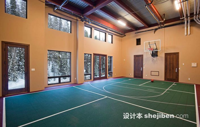 简欧风格装修图片_室内篮球场效果图片欣赏 – 设计本装修效果图
