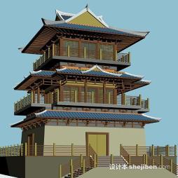 仿古建筑设计效果图集欣赏