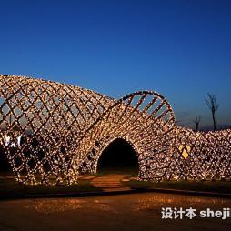 灯光雕塑效果图图片