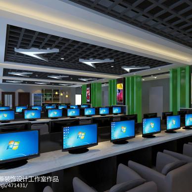 网吧电脑桌效果图图库欣赏