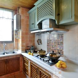 田园厨房陶瓷台面效果图片