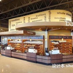 超市展示柜效果图图片