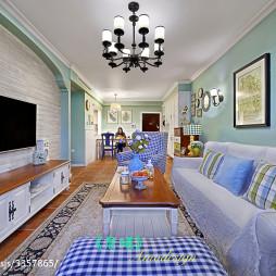 美式田园客厅装修设计图片欣赏