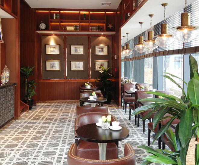 中式咖啡厅装修效果图片