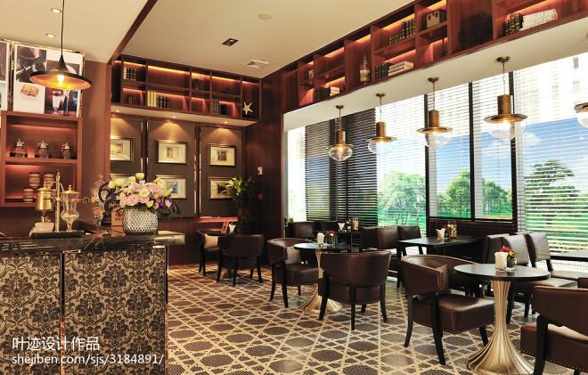 中式咖啡厅装修效果图大全