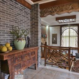 现代中式别墅楼梯装修设计