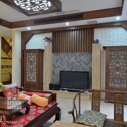 现代中式别墅休闲区装修设计