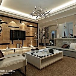 欧式客厅uv装饰板装修效果图