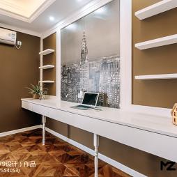 新古典风格卧室搁物架设计