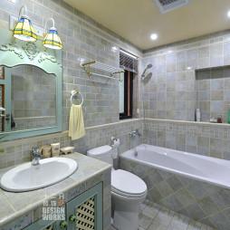 欧式卫浴洗脸盆柜组合装修设计效果图