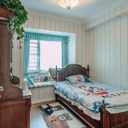 美式儿童房木制童床效果图大全欣赏
