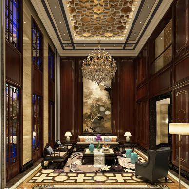 客厅中式装修效果图库