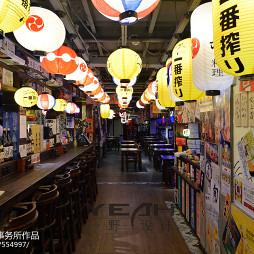 日式餐厅过道吊顶设计