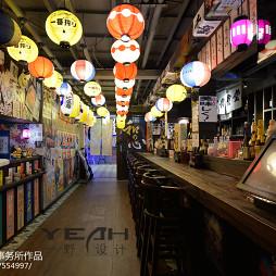 日式餐厅走道吊顶设计
