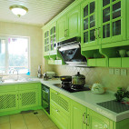田园厨房台面装修效果图