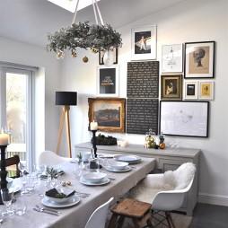 家庭白色餐桌装修效图片