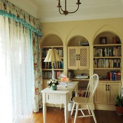 混搭风格书房书桌设计效果图
