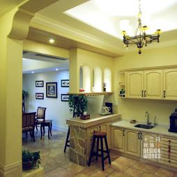 别墅混搭风格厨房隔断设计