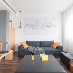 复式楼现代简约客厅设计