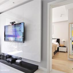 二居现代风格客厅卧室隔断设计